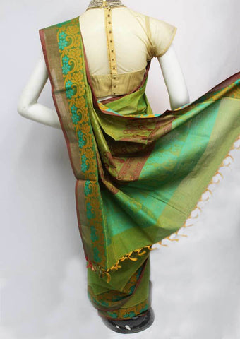 Green Color Pure Cotton Saree - FP53842 ARRS Silks