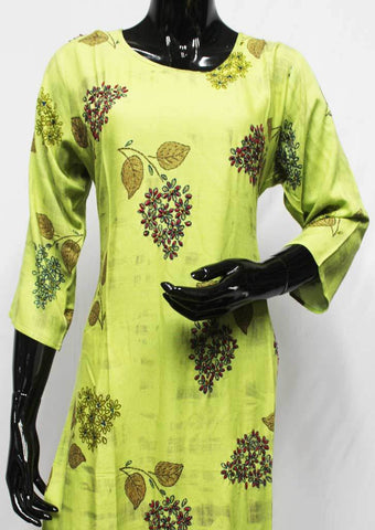 Green Color Rayon Crep Kurti - FQ97175 ARRS Silks
