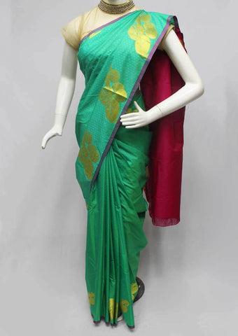Green color Semi Silk Saree- FQ88306 ARRS Silks