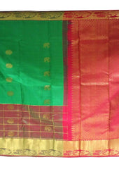 Green Color Wedding Silk Saree ARRS Silks