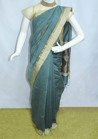 Green Fancy Cotton Saree - FO77903 ARRS Silks