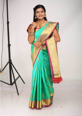 Green Kanchipuram Silk Saree - FH1878 ARRS Silks