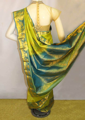 Green Kanchipuram Silk Saree-FM92769 ARRS Silks