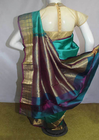 Green Kanchipuram Silk Saree -FN80466 ARRS Silks