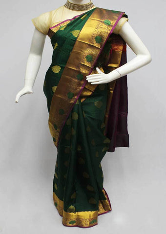 Green Kanchipuram Silk Saree-FQ22760 ARRS Silks