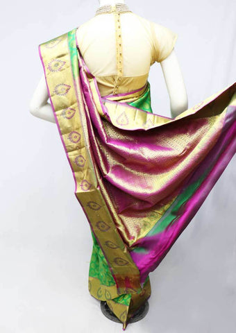 Green  Kanchipuram Silk Saree -FS25047 ARRS Silks