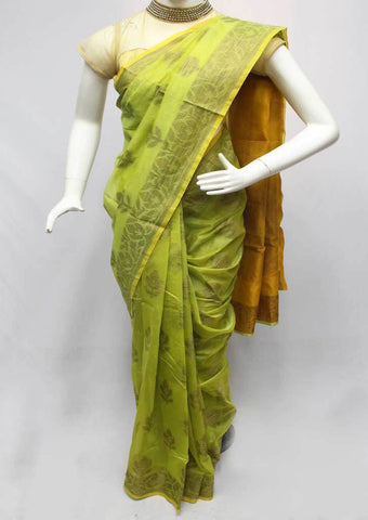 Green Manipuri Cotton Sarees- FR16496 ARRS Silks
