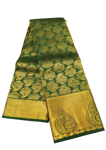 Green mixed Blue Kanchipuram Silk Saree - EW11161 ARRS Silks