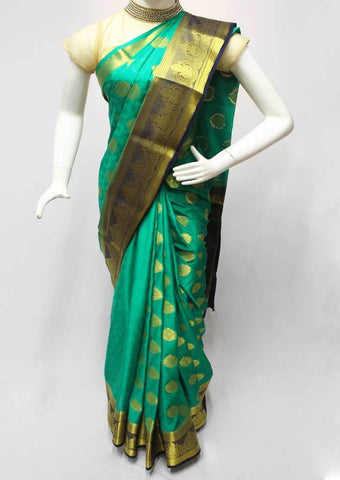 Green Mysore Silk Saree - FR59153 ARRS Silks