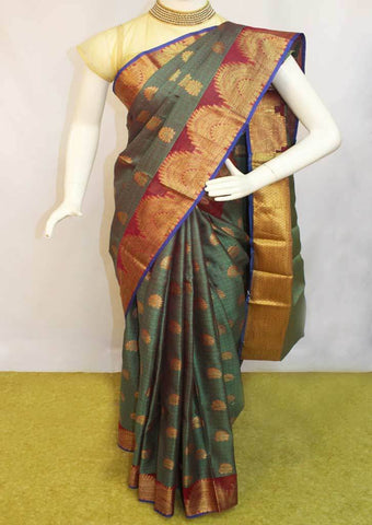 Green Organza Cotton Sarees- FP10472 ARRS Silks