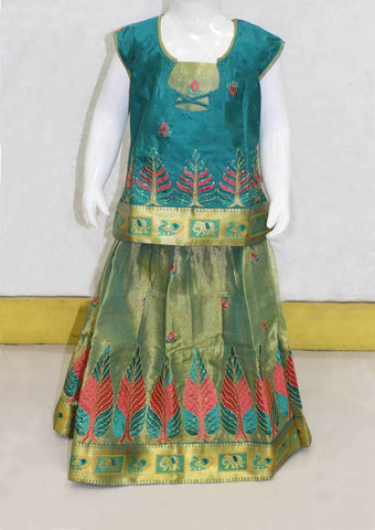Green Pattu Pavadai -FO21172 ARRS Silks