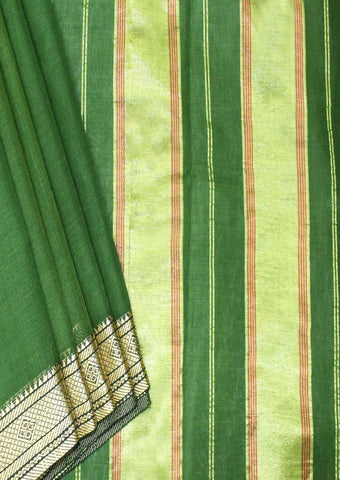 Green Pure Cotton 9.5 yards Saree - F096398 ARRS Silks