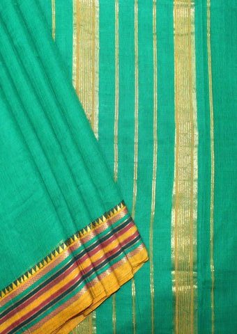 Green Pure Cotton 9.5 yards Saree - FP54196 ARRS Silks