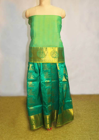Green Pure silk pavadai - EZ16784 ARRS Silks