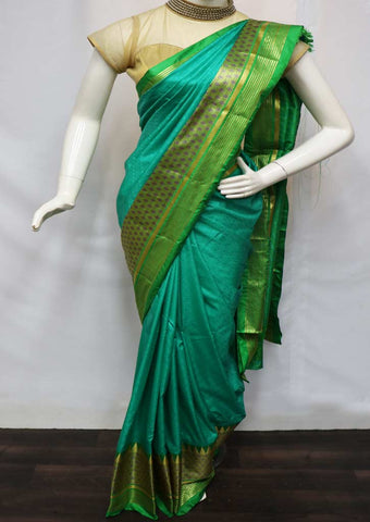 Green semi silk saree  - GC9391 ARRS Silks