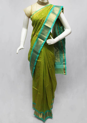 Green Silk Cotton Saree - FP44807 ARRS Silks