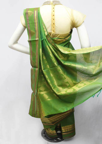 Green Silk Cotton Saree - FR47199 ARRS Silks