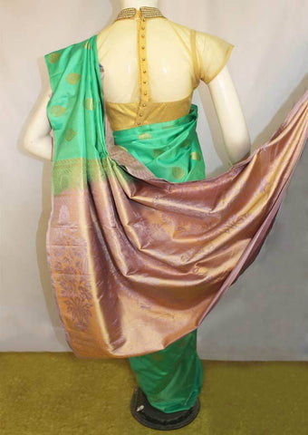 Green Soft Silk Saree -FL85888 ARRS Silks