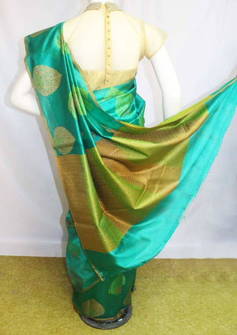Green Tussar Silk Saree-FL37494 ARRS Silks