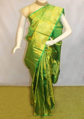 Green Wedding Silk Saree -9KA2606 ARRS Silks