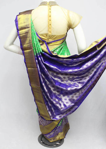 Green  Wedding Silk Saree - 9KA4113 ARRS Silks