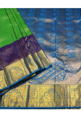 Green with Blue Muhurtham Silk Saree ARRS Silks
