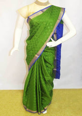 Green with Blue Mysore Silk Saree-FI68322 ARRS Silks