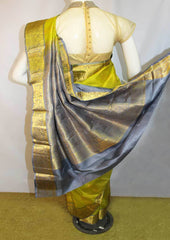Green With Gray  Kanchipuram Silk Saree-FM92785 ARRS Silks