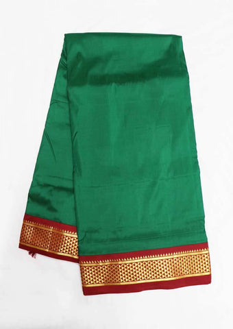 Green with Maroon Color 9.5 Yards Silk Saree - FR104028 ARRS Silks