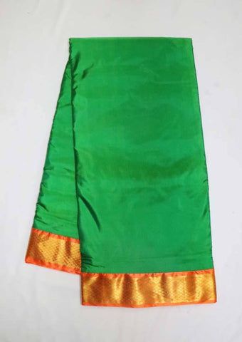 Green with Orange 9.5 Yards Silk Saree - FT20314 ARRS Silks