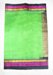Green With Pink Silk cotton Saree - FL39144 ARRS Silks