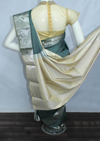 Green With Sandal Semi Silk Saree- FO39011 ARRS Silks