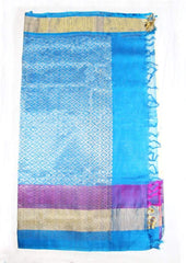 Half white Silk cotton Saree - FL39155 ARRS Silks
