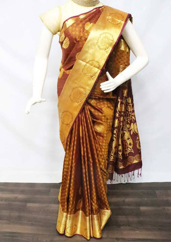 Honey Color with Naaval Soft Semi Silk Saree - FU27744 ARRS Silks