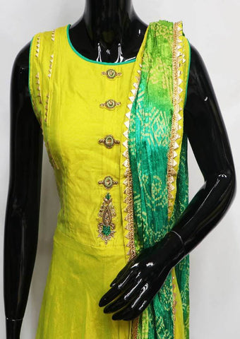 Lemon Green Readymade Salwar- FS38262 ARRS Silks