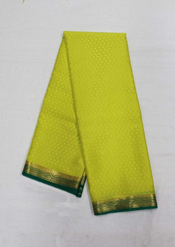 Lemon Yellow Mysore Silk Saree-FI10053 ARRS Silks