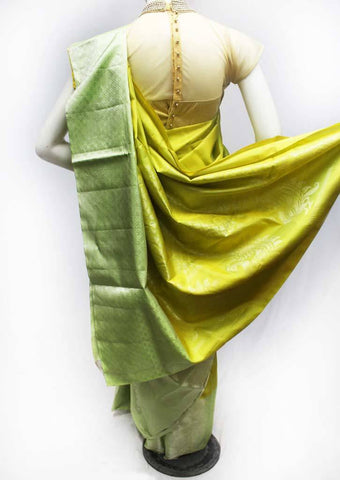 Lemon Yellow with Green Soft Silk Saree -FQ111186 ARRS Silks