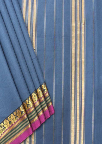 Light Blue Pure Cotton 9.5 yards Saree - FP54206 ARRS Silks