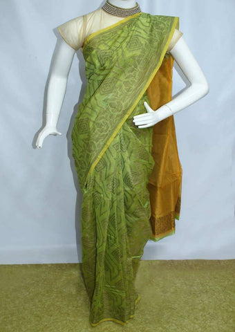 Light Green Manipuri Cotton Sarees- FP2119 ARRS Silks