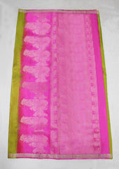 Light Green With Pink Mayuri Soft Silk Saree - FL87133 ARRS Silks