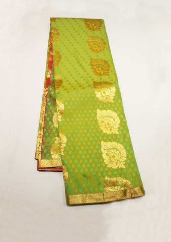 Light Green With Pink Semi Silk Saree - FU27879 ARRS Silks