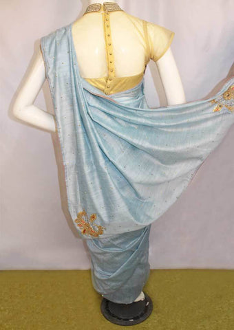 Light Grey Sana Silk Saree-FO46108 ARRS Silks