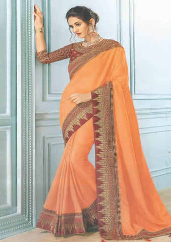 Light Orange Designer Saree-FS7557 ARRS Silks