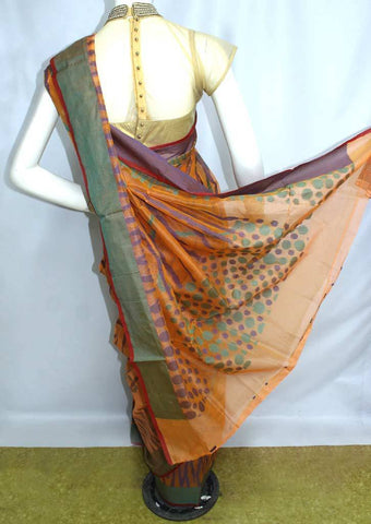 Light Orange Manipuri Cotton Sarees- FP2175 ARRS Silks