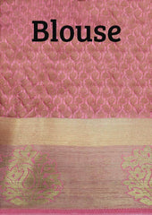 Light Pink Semi Raw Silk Saree-FO6340 ARRS Silks