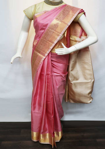 Light Pink with Sandal Soft Silk Saree - GE40232 ARRS Silks