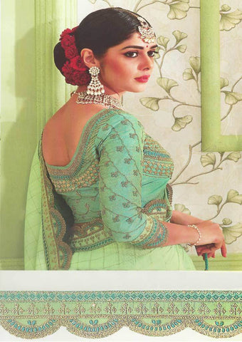 Light Pista Green Designer Saree - FS31711 ARRS Silks