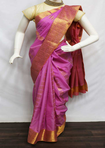 Light Purple Color Silk Cotton Saree - GA5530 ARRS Silks