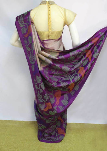 Light Purple with Dark Violet Soft Silk Saree - FL87119 ARRS Silks