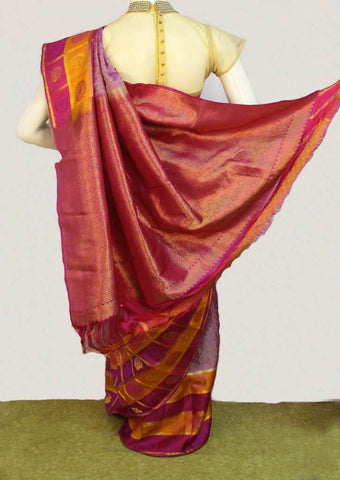 Light Purple with Pink Kanchipuram Silk Saree - FM92076 ARRS Silks